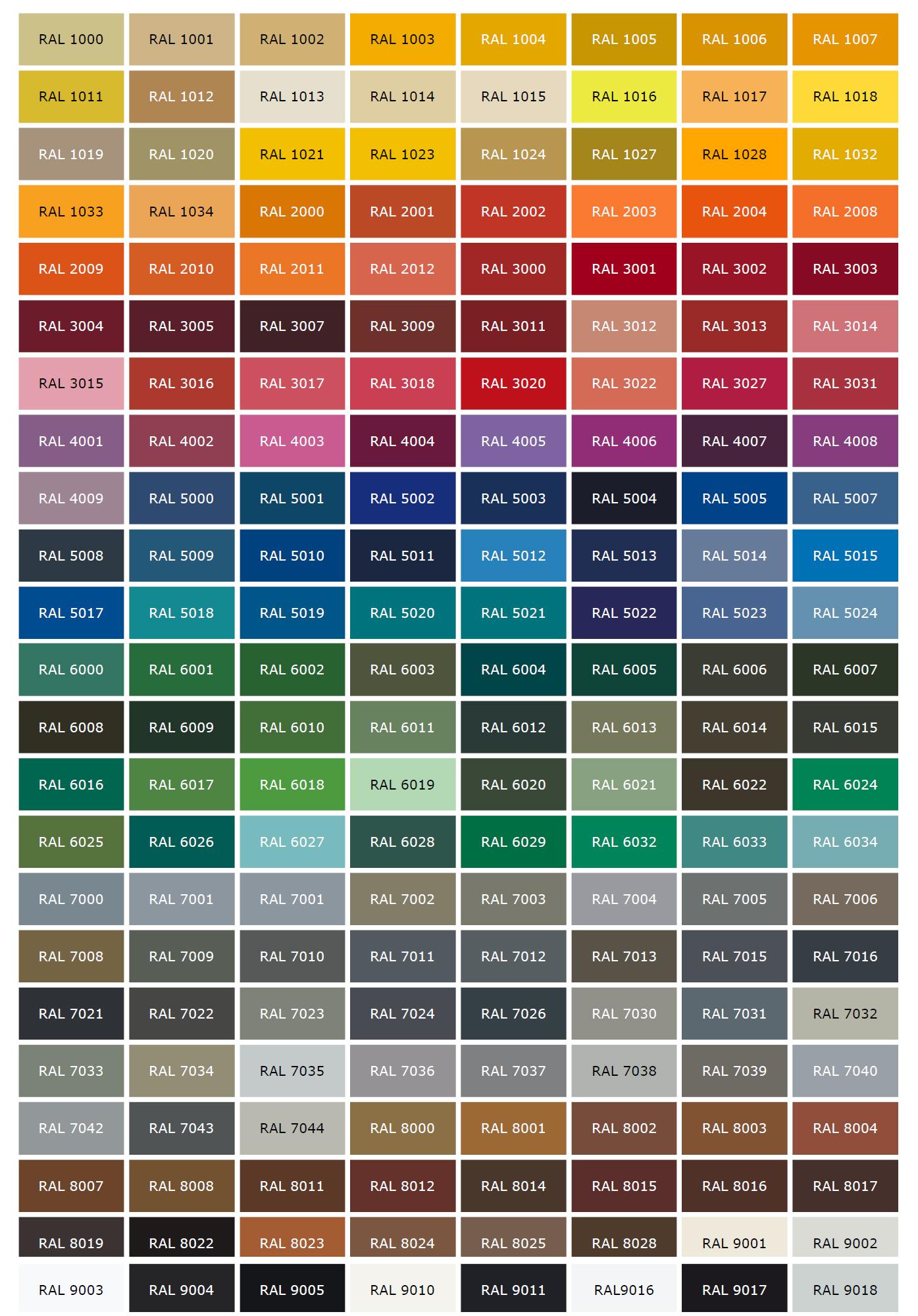 Egyedi futóbicikli RAL színek